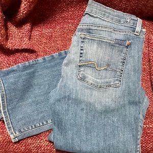 "7FAM straight leg Karah Jeans, sz 31, 30"" inseam"